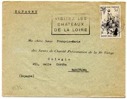 France N° 1072 Y. Et T. Indre Et Loire Tours Gare  Flamme Illustrée Du 06/04/1957 - Marcofilie (Brieven)