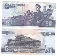 KOREA NORTH 5 WON 1998  LOTTO 2651 - Corea Del Nord