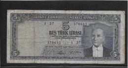 Turquie - 5 Lira - Pick N°174 - B/TB - Turkey