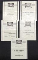 Musica Teatro - Sala Degli Artisti Napoli - Lotto 5 Programmi Stagione 1941 - 42 - Pubblicitari