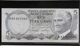 Turquie - 5 Lira - Pick N°185 - NEUF - Turchia