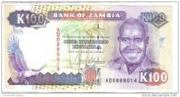 Zambia 100 Kwacha LOTTO 2652 - Zambie