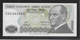 Turquie - 10 Lira - Pick N°192 - NEUF - Turquia