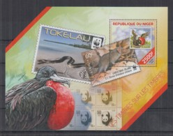 P926. Niger MNH - 2014 - Philately - Stamps On Stamps - Bl - Autres