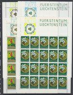 Liechtenstein 1970 European Nature 4v Sheetlets ** Mnh (F7897) - Europese Gedachte