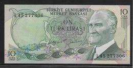 Turquie - 10 Lira - Pick N°186 - NEUF - Turquie