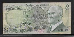 Turquie - 10 Lira - Pick N°186 - TB - Turchia