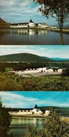 Lot De 3 Cartes - Village Valcartier Québec Canada - Mont Saint-Sacrement - Centre Plein Air - École - 2 Scans - Quebec