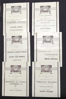 Musica Teatro - Grande Sala R. Conservatorio Napoli Lotto 6 Programmi 1941 - 42 - Pubblicitari