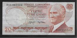 Turquie - 20 Lira - Pick N°187a - TTB - Turkije