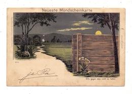 HALT GEGEN DAS LICHT / Hold To Light, Neueste Mondscheinkarte, 1903 - Halt Gegen Das Licht/Durchscheink.
