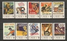 St Vincent - MNH Serie WORLD WAR II POSTERS - WW2
