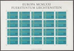 LIECHTENSTEIN  545, Bogen 5x4, Postfrisch **, Europa CEPT 1971, Kette - Europa-CEPT