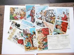 19D - 14 Chromos Timbres Tintin Kuifje's Bon L'histoire Du Monde - Trade Cards