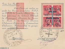 CARTE SIGNEE. LIBERATION BRIANCON ( N° 000311). AMBULANCE CHIRURGICALE LOURDE N° 2. NOEL 1944. FRANCHISE SSM/FFI /2204 - Liberazione