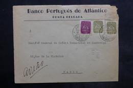PORTUGAL - Enveloppe Commerciale De Ponta Delgada Pour La France En 1951 - L 35021 - 1910-... Republic
