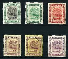 Brunei (Británico) 6 Sellos Año (1907-1920) Nuevo Y Usado - Brunei (...-1984)