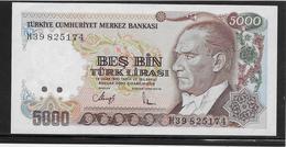 Turquie - 5000 Lira - Pick N°198 - NEUF - Turquie