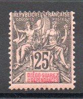 DIEGO SUAREZ - YT N° 32 - Neuf * - MH - Cote: 20,00 € - Diégo-Suarez (1890-1898)
