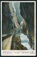 1904 Switzerland Ende Taminaschlucht Bei Bad Pfafers Postcard. Hotel Bad Pfafers Cachet. Ragaz - Westfalen Germany - Storia Postale