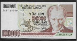 Turquie - 100000 Lira - Pick N°206 - NEUF - Turchia