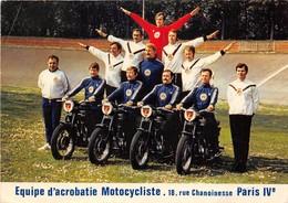 75004-PARIS- EQUIPE D'CROBATIE MOTOCYCLISTE 18 RUE CHANOINESSE - Arrondissement: 04