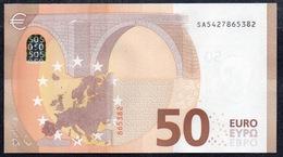 """50 EURO ITALIA  SA  S021  Ch. """"42""""  - DRAGHI   UNC - EURO"""