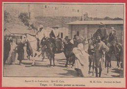 Maroc. Tanger. Touristes. Baron H De Rotchschild, M. Et Mme Cain. Scène Animée. 1911. - Vieux Papiers