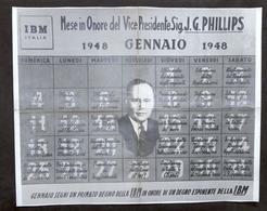 IBM Italia - Mese In Onore Del Vice Presidente J.G. Phillips - Gennaio 1948 - Vecchi Documenti