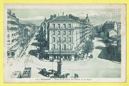 * Grenoble (Dép 38 - Isère - France) * (A. Hourlier, Nr 539-3) Place De La Gare, Hotels Et Les Alpes, Tram, Vicinal, TOP - Grenoble