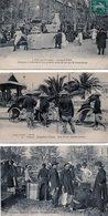3972 - Lot 3 Cpa Aix En Provence - Marseille Exposition Coloniale Annamites Pousses Pousses Carnaval - France