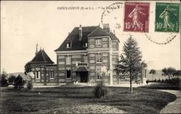 Cp Crécy Couvé Eure Et Loir, Vue Générale De La Terrasse - Autres Communes