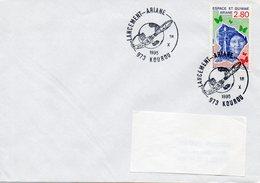 KOUROU (GUYANE) : ESPACE Oblitération Temporaire 1995 LANCEMENT ARIANE Timbre CONCORDANT - Europa