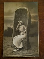 Antieke FOTO -- Kaart   Door Fotograaf O . Houtart--- Laureys  BLANKENBERGHE -- HEYST - Photographs
