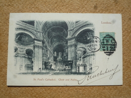 Carte Postale Ancienne Précurseur Angleterre London St Paul's Cathedral Choir And Aisles - St. Paul's Cathedral