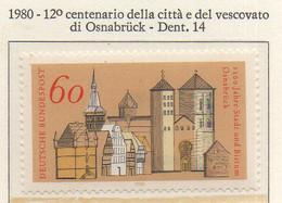 PIA - GERMANIA  - 1980 : 12° Centenario Del Vescovado E Della Città Di Osnabruck  - (Yv 883) - Christianisme