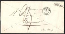 FRANCE Précurseur (pli Seul) ENSISHEIM (66) - HAGUENAU (67) 1851 - 1849-1876: Période Classique
