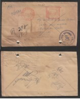 Bangladesh  1975  Meter Frank Rgistered Cover O/p Bangladesh Hand Stamp  # 18129 D  Inde Indien - Bangladesh