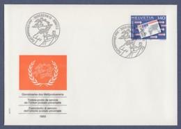 Schweiz Switzerland FDC 1989 - UPU-Dienstpost - MiNr. 15 - Weltpostverein (1) - FDC