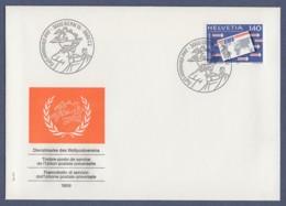 Schweiz Switzerland FDC 1989 - UPU-Dienstpost - MiNr. 15 - Weltpostverein (2) - FDC