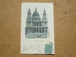 Carte Postale Ancienne Précurseur Angleterre London St Paul's Cathedral - St. Paul's Cathedral