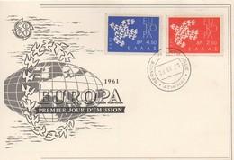 CM26  Grèce - Carte Maximum Avec Timbres Europa 1961   TTB - 1961