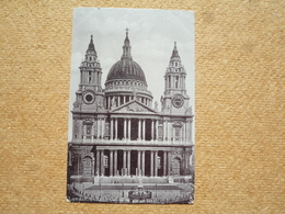 Carte Postale Ancienne Angleterre London St Paul's Cathedral West Front - St. Paul's Cathedral