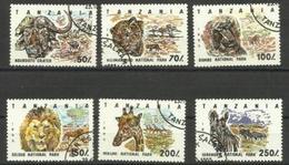 Tanzania - 1993 National Parks  CTO    SG 1690-5 Sc 1186-91 - Tanzania (1964-...)