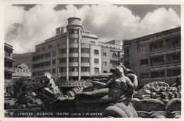 CARACAS-SILENCIO-TEATRO JUNIN Y FUENTES-NON  VIAGGIATA 1952-REAL PHOTO - Venezuela