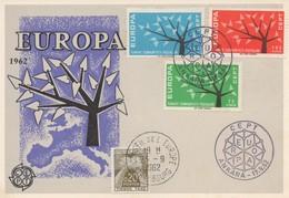 CM32  Turquie - Carte Maximum Avec Timbres Europa 1962 En Liaison Avec Le Conseil De L'Europe  TTB - Idées Européennes