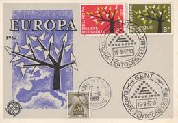 CM34  Belgique - Carte Maximum Avec Timbres Europa 1962 En Liaison Avec Le Conseil De L'Europe  TTB - Idées Européennes