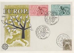 CM35  Espagne - Carte Maximum Avec Timbres Europa 1962 En Liaison Avec Le Conseil De L'Europe  TTB - Idées Européennes
