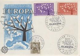 CM36  France - Carte Maximum Avec Timbres Europa 1962 En Liaison Avec Le Conseil De L'Europe  TTB - Idées Européennes