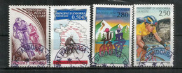 ANDORRE. Le Sport En Andorre (Tour De France Cycliste,et Le Cyclisme En Andorre)  4 T-p Oblitérés, Bonne Qualité - Used Stamps